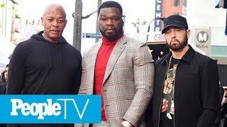 Eminem Honors 50 Cent At His Hollywood Walk Of Fame Ceremony: He Is 'The Whole Package' | PeopleTV