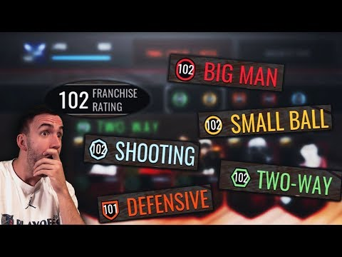 FINALLY HITTING A 102 OVR FRANCHISE IN NBA LIVE MOBILE!!