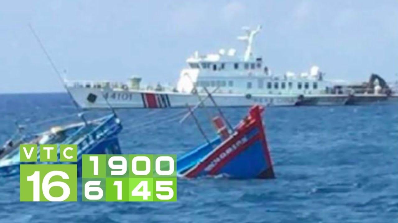Trung Quốc đâm chìm tàu cá Việt Nam ở Hoàng Sa | VTC16