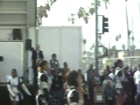 Pasadena Ruff Ryders drill team and drum squad