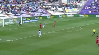 Gol de Óscar (2-1) en el Real Valladolid - RCD Mallorca - HD