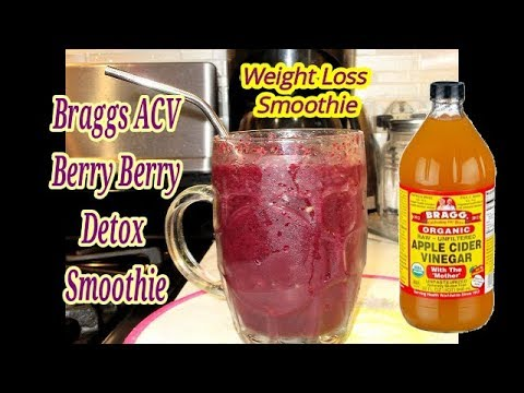 lose-weight-fast-||-braggs-apple-cider-very-berry-detox-smoothie-|-for-weight-loss|-meal-replacement