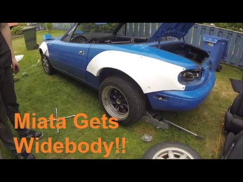 Miata Gets Widebody and Stripped Down! - Rocket Bunny Miata Build Part 5