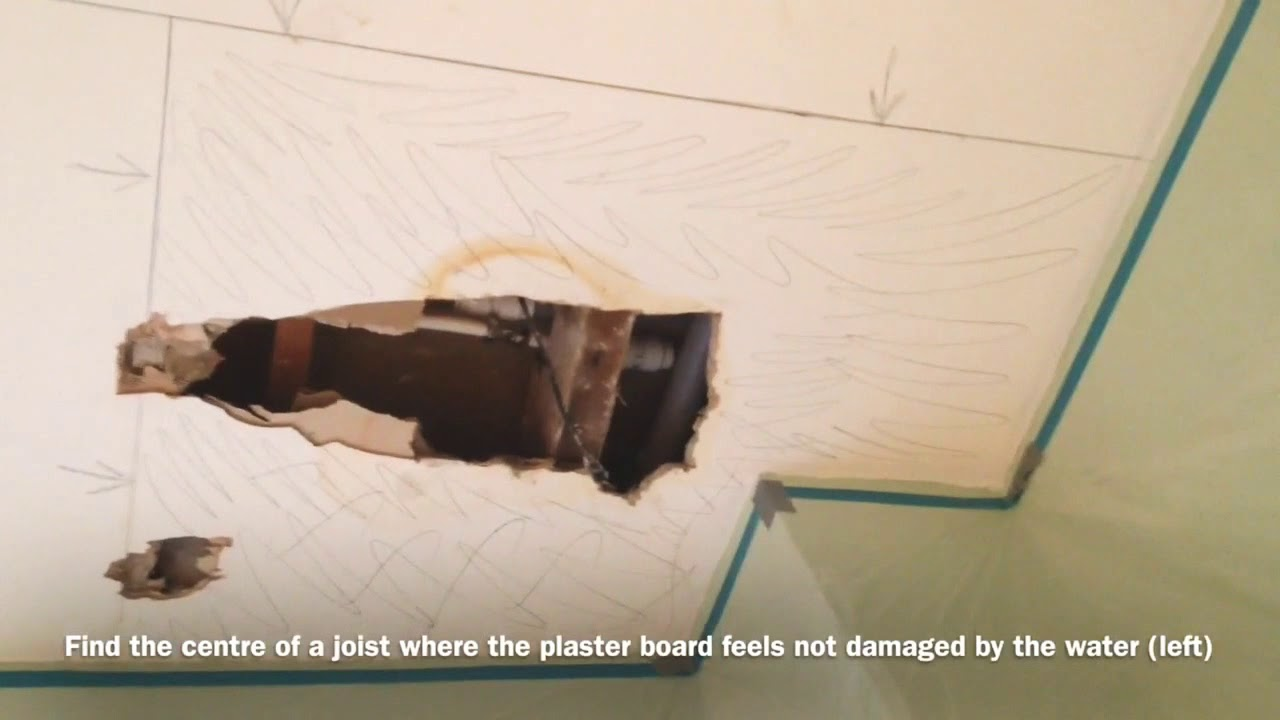 REPAIRING A CEILING AFTER A WATER LEAK HOW TO