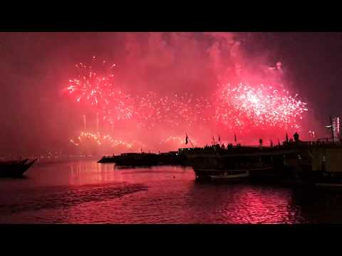Qatar National Day, Beautiful Fire works, Doha, 2017,18 Dec.