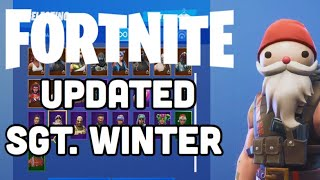 Fortnite Saison 7 NOUVEAU SGT. WINTER SANTA HAT Skin Gameplay!