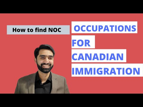 How To Find Occupation Code For Canadian Immigration | NOC Code | Express Entry