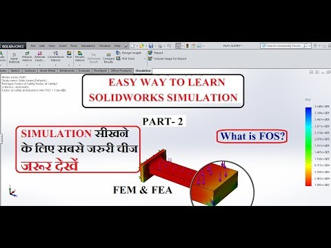 solidworks-simulation-for-beginners-part-2-||-factor-of-safety-||-fea(finite-element-analysis)