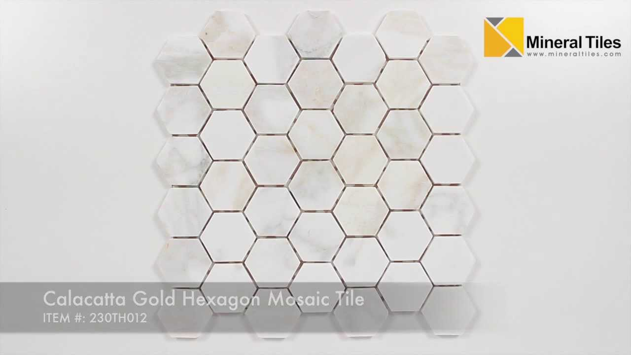 Calacatta Gold Hexagon Mosaic Tile 230th012 Youtube