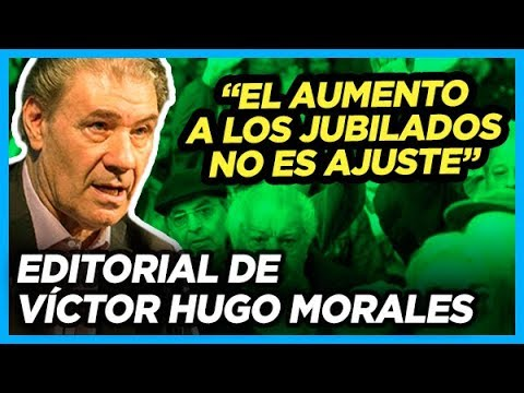 VÍCTOR HUGO SALE A BANCAR las nuevas medidas de Alberto sobre las jubilaciones