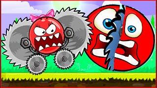Девочка ШАР с ПИЛАМИ напала на Красный Шарик ! Игра про Red ball 4 для детей !