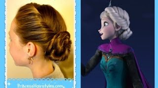 Elsa Hairstyle, Inspired By Disney (Frozen) Coronation Updo