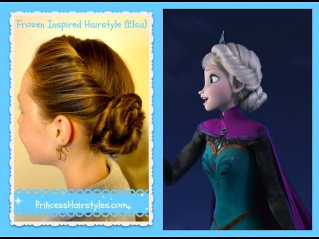 Elsa Hairstyle, Inspired By Disney (Frozen) Coronation Updo Travel Video