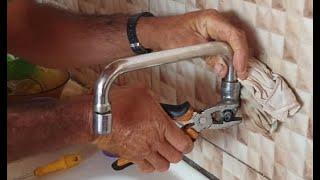 Como consertar FACILMENTE o vazamento de água da sua TORNEIRA!