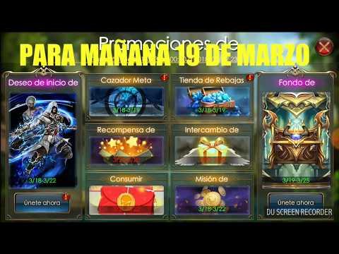 FONDO DE DIAMANTES Y REEMBOLSO PARA MAÑANA 19 DE MARZO - Legacy of Discord