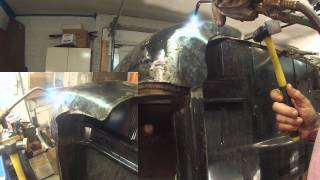 Shrinking Steel Sheet Metal Made Easy with an Oxy-Acetylene Torch