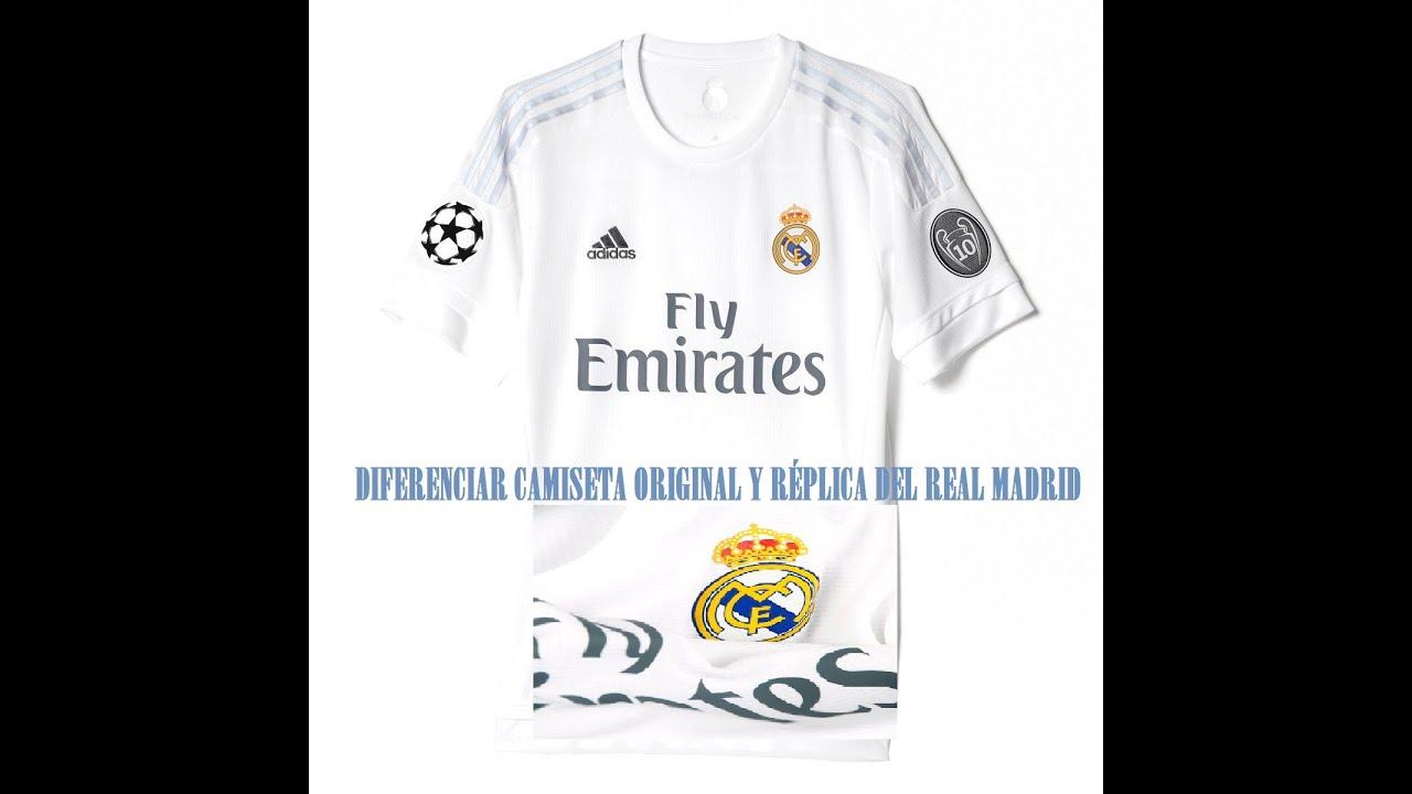 Cómo diferenciar una camiseta original auténtica de una réplica del Real  Madrid 2016!!  v ce081b4d372