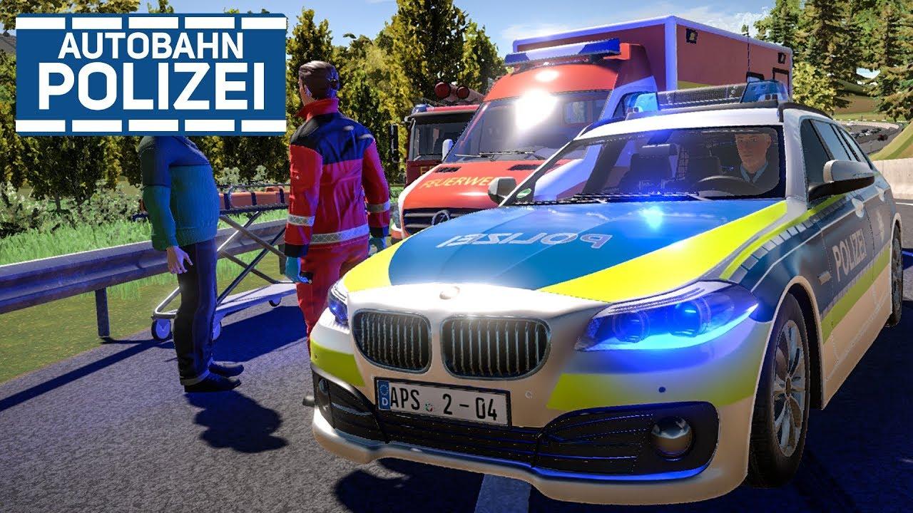 AUTOBAHNPOLIZEI-SIMULATOR 2: Unfall mit Feuerwehr und RTW! | PREVIEW ...