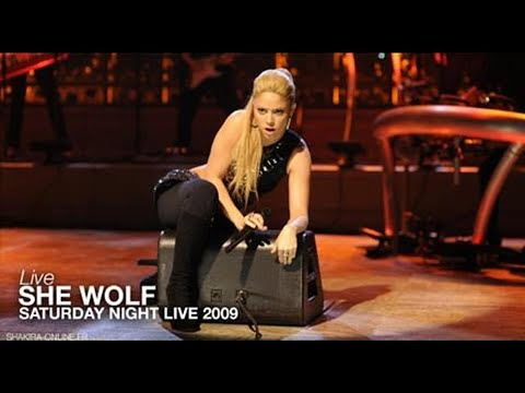 Shakira ~ She Wolf [Saturday Night Live 2009] HD