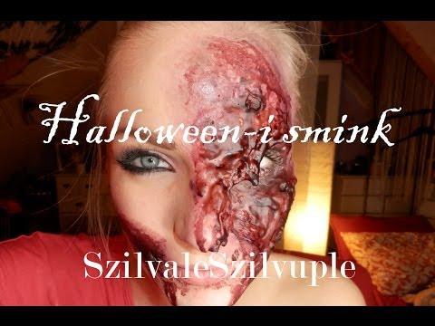 Halloween-i smink -  egyszerű, gyors, lemart, sebes arc * SzilvaleSzilvuple *