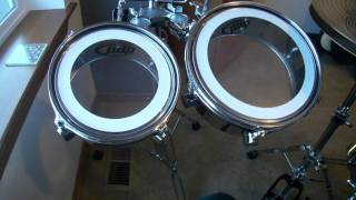 PDP FS Pacific Drum set by DW with timbales