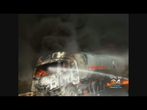 Oil Tanker Bursts Into Flames On China Expressway