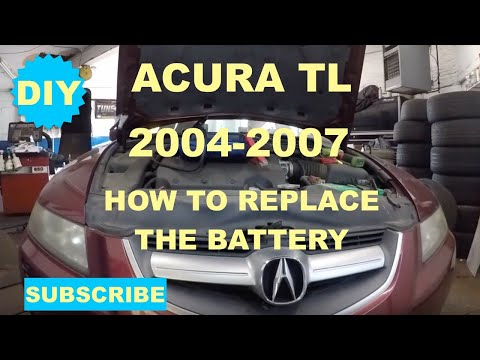 How to replace battery on 2004 2007 Acura TL