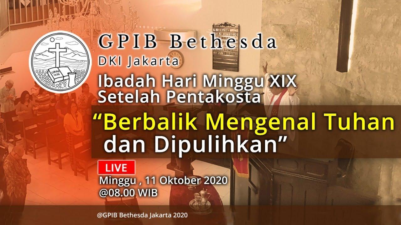 Ibadah Hari Minggu XIX Sesudah Pentakosta (11 Oktober 2020)
