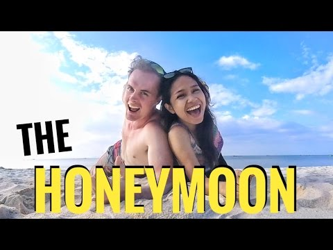 Filipina Australian couple honeymoon in the Philippines