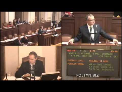 Kalousek reaguje na poslance Gabala (za KDU-ČSL) o vládě a komunistech