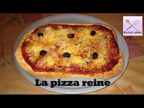 recette-:-la-pizza-reine-(jambon-et-champignons)