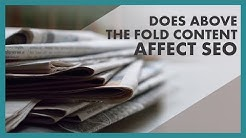 """Does """"Above the Fold"""" Content Affect SEO?"""