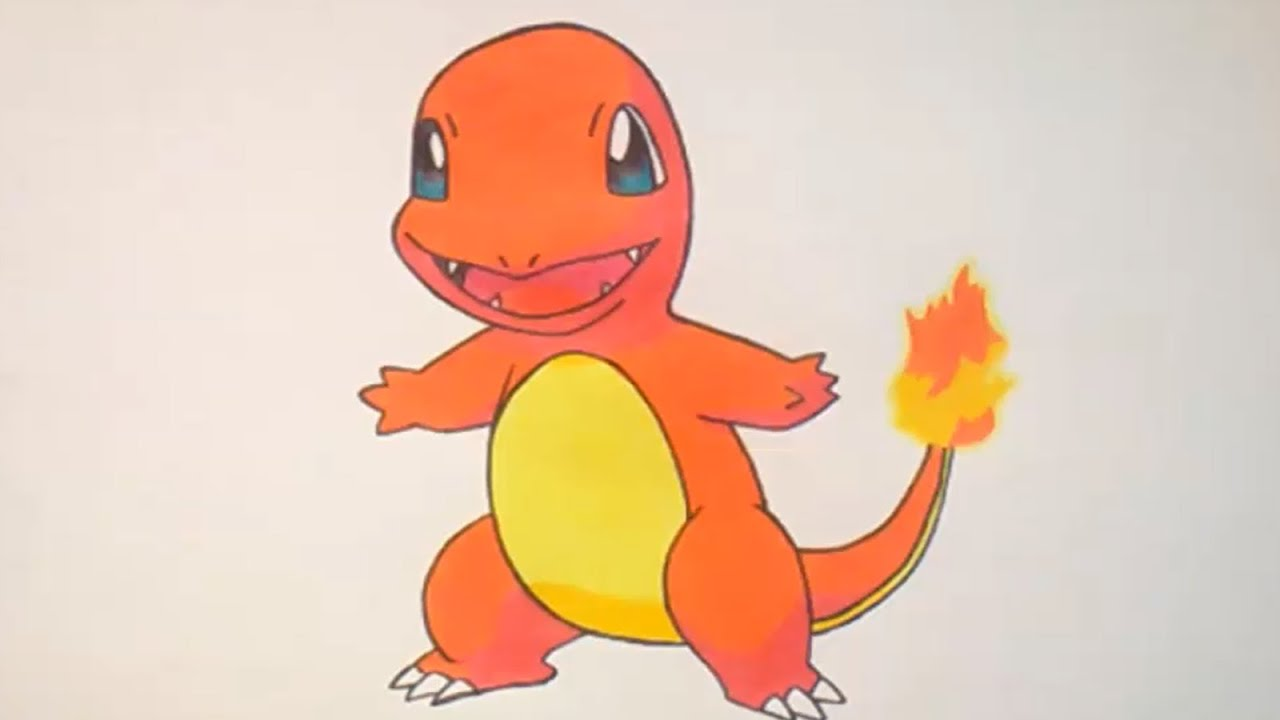Como Dibujar A Charmander Pokemon Go How To Draw Charmander