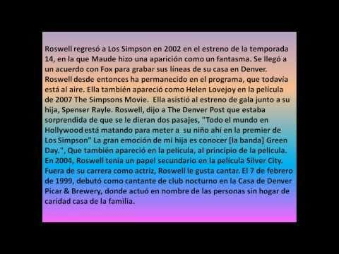 Las Voces de Los Simpson - Maggie Roswell, Voz de Varios Personajes de Los Simpson