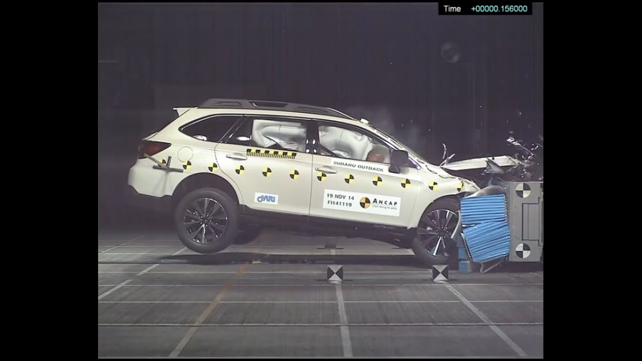 ANCAP  Subaru Outback from Jan 2015  5 star safety rating  YouTube