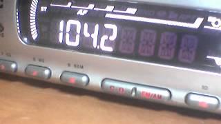 Прием FM 104,1 Первый канал Белорусского радио и 104,2 Первый канал Украинского радио.