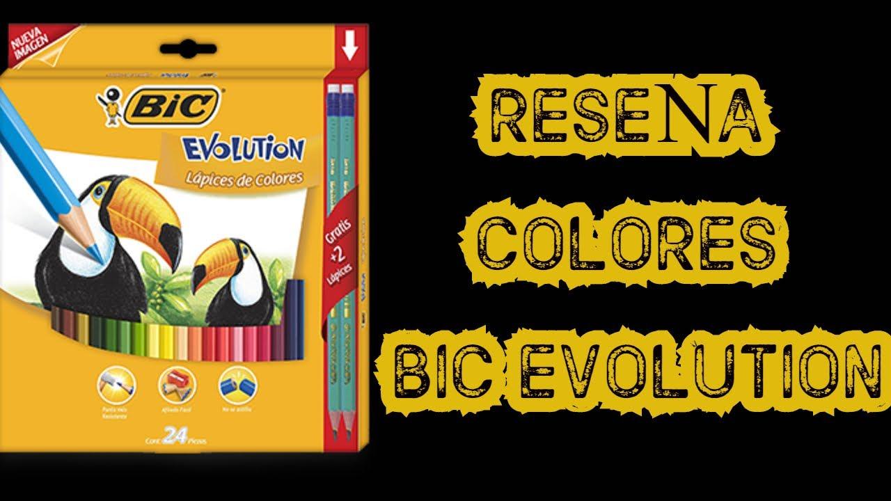 LAPICES DE COLORES - BIC EVOLUTION -REVIEW (36 TONOS)