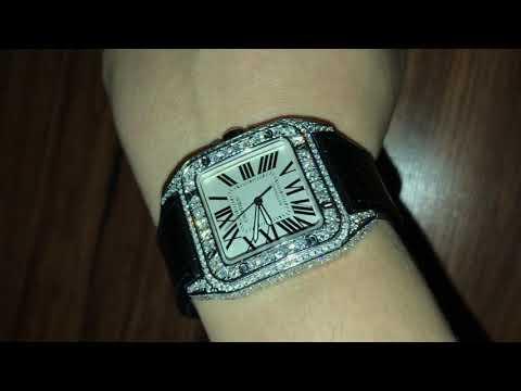 4ed09e5ebf4 Iced Out Cartier Watch Replica