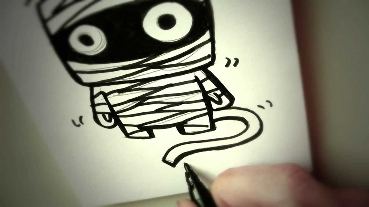 Uncategorized Mummy Drawings how to draw a cartoon mummy by garbi kw easy drawing youtube