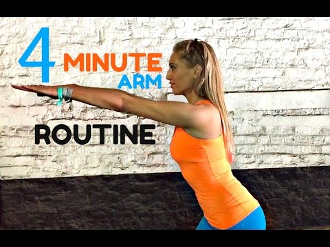 home workout 4 minute toned arms workout 💪🏽 arm exercises