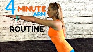 Home Workout 4 Minute Toned Arms Workout -💪🏽  Arm exercises for women