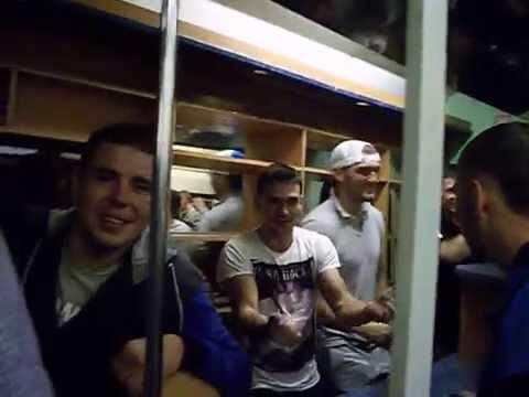 Весёлый поезд в 01.15 (11.09.16) из Зеленоградска в Калининград.