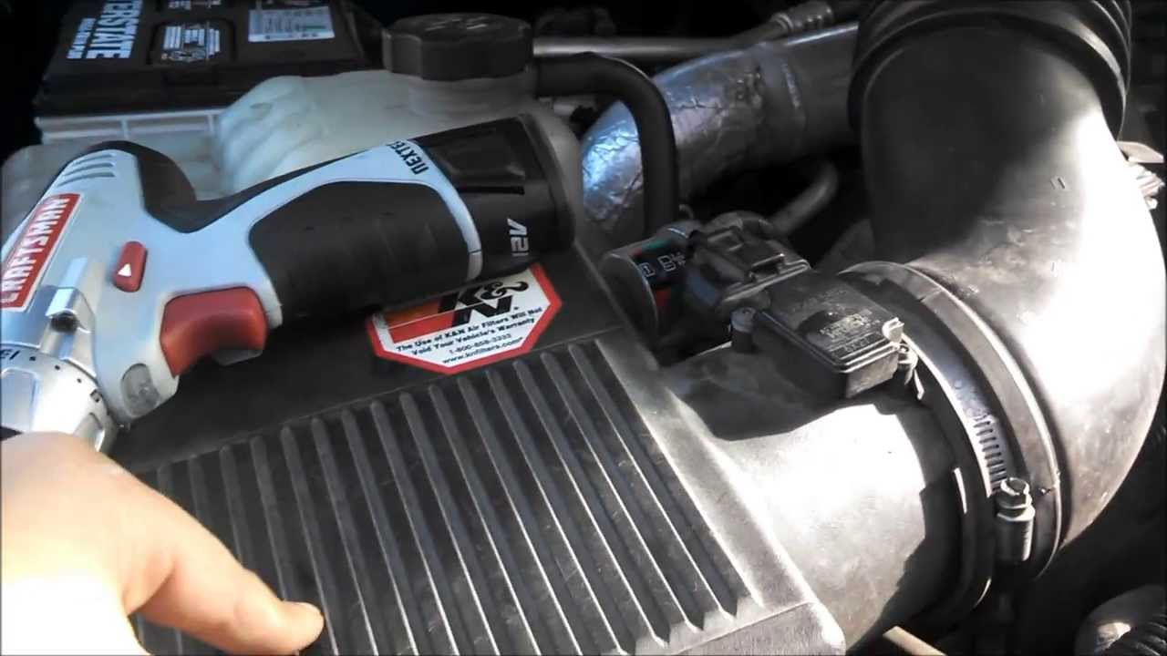 Air Filter Cleaner >> LB7 Air Filter Change - YouTube