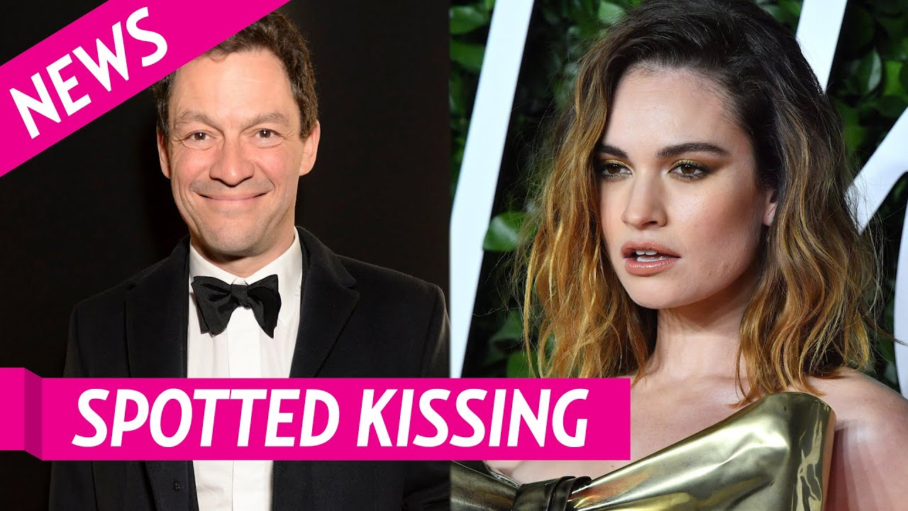 Lily James and Dominic West Spotted Kissing in Rome