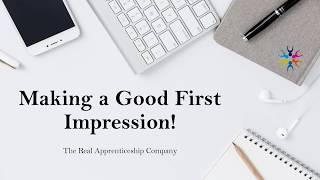 Making a Good First Impression!