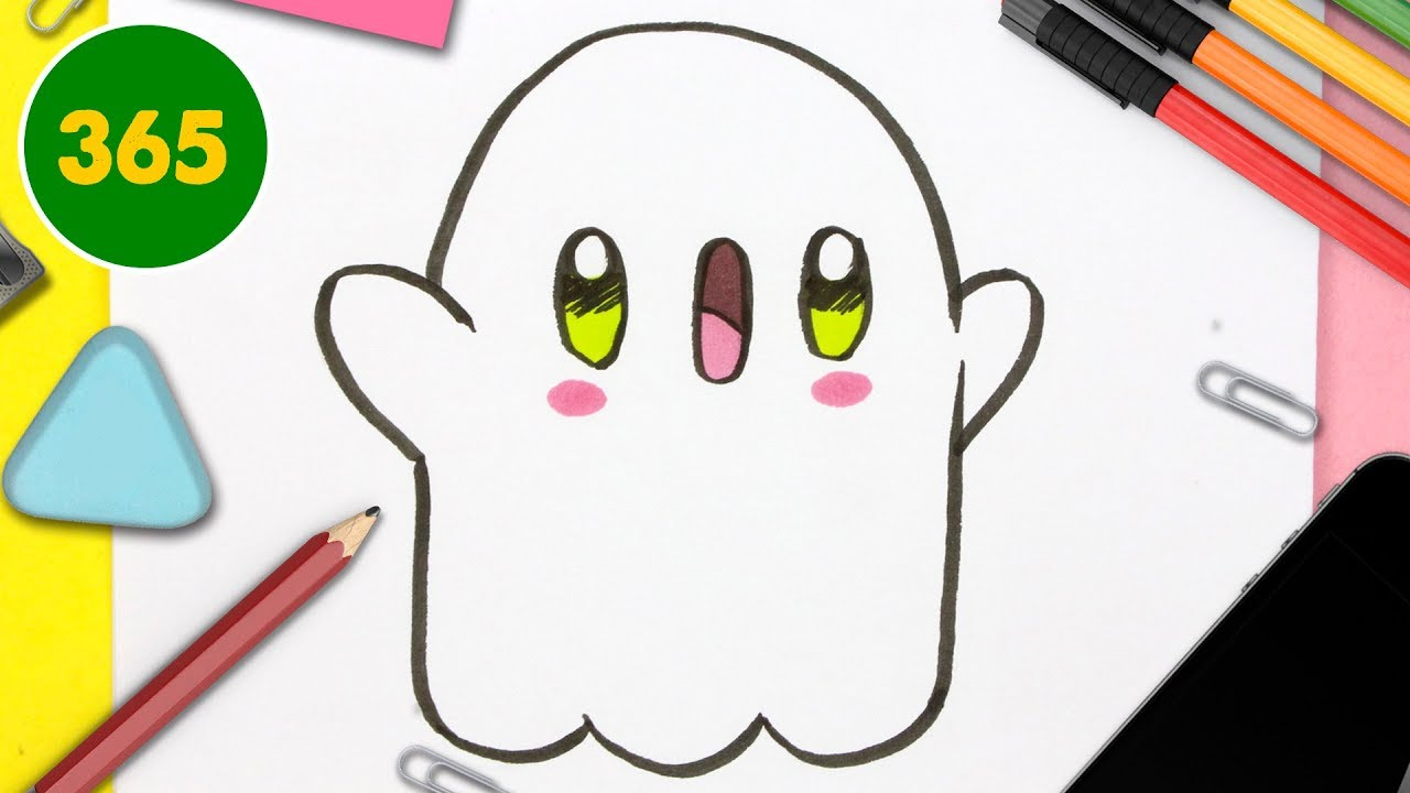 Comment Dessiner Fantome Kawaii Etape Par Etape Dessins Kawaii