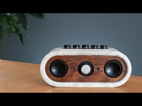 DIY Concrete Bluetooth Speaker (guide + instrucitons to buil
