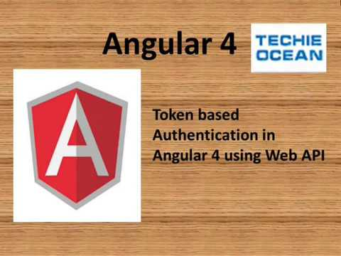Token authentication in Angular 4 using web API