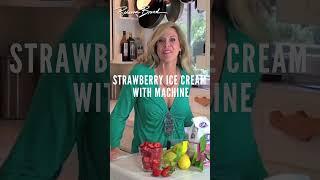 Homemade Strawberry Ice Cream Recipe  WITH ICE CREAM MAKER #Shorts