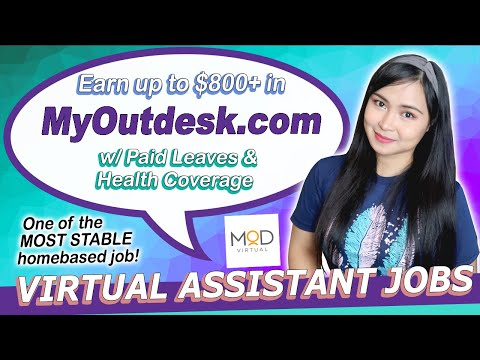 Earn $800 Monthly In MyOutdesk   Virtual Assistant Philippines   Work From Home